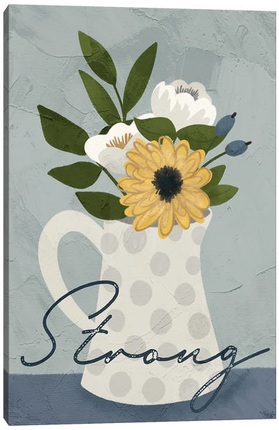 Flower Strong Canvas Art Print
