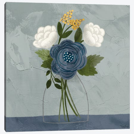 Flowers I Canvas Print #GGL47} by Gigi Louise Art Print