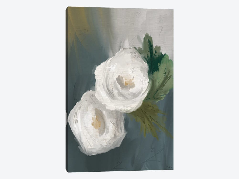 White Painted Flowers by Gigi Louise 1-piece Canvas Print