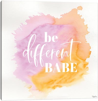 Be Different Canvas Art Print