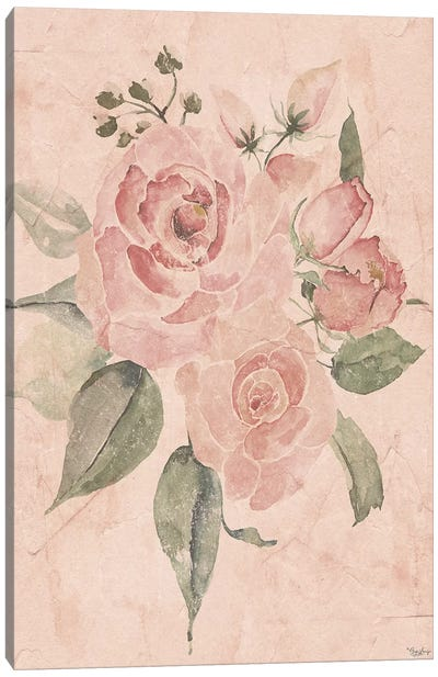 Blush Floral I Canvas Art Print