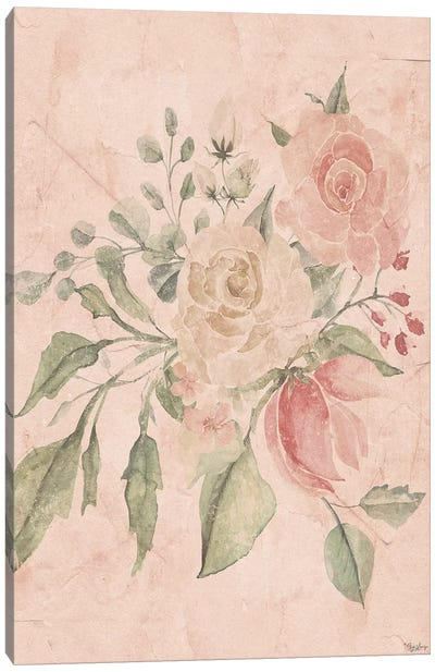Blush Floral II Canvas Art Print