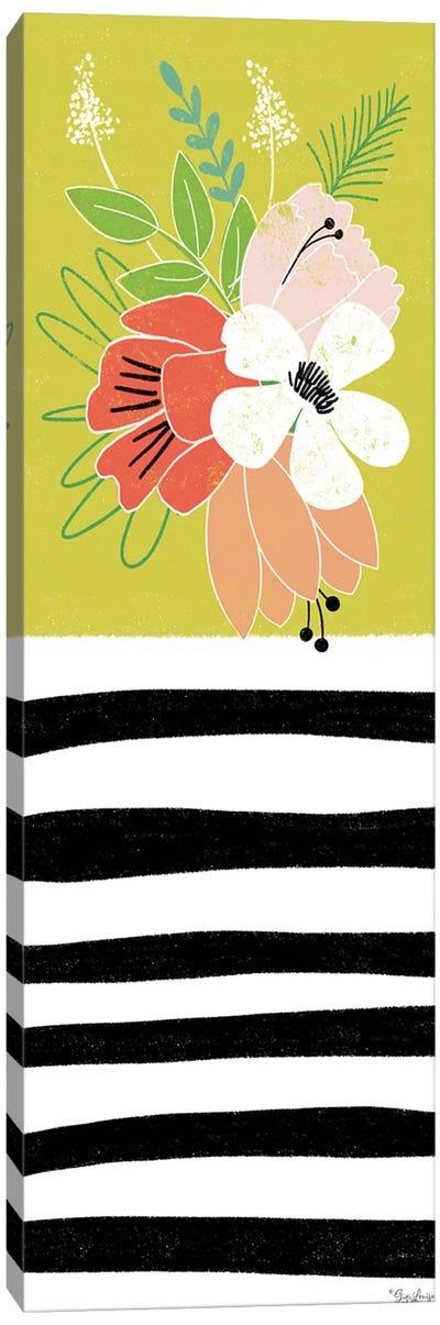 Green Floral Canvas Art Print