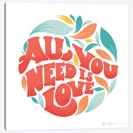 All You Need I Canvas Print #GGM1} by Gia Graham Canvas Wall Art