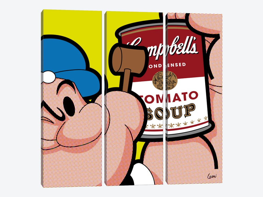"Pop-eye by Grégoire ""Léon"" Guillemin 3-piece Canvas Artwork"