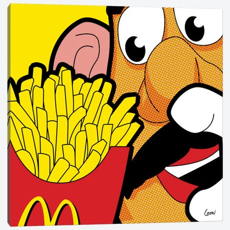 "Cannibalism Canvas Print #GGN153} by Gregoire ""Leon"" Guillemin Canvas Art"