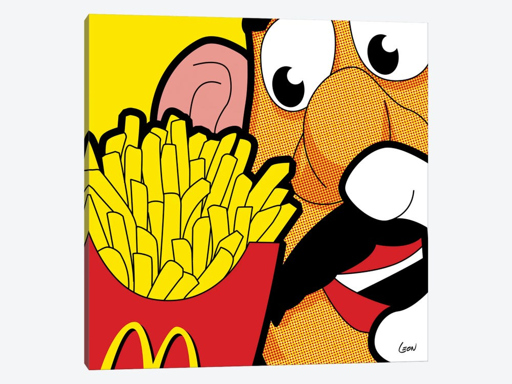 "Cannibalism by Gregoire ""Leon"" Guillemin 1-piece Canvas Art Print"