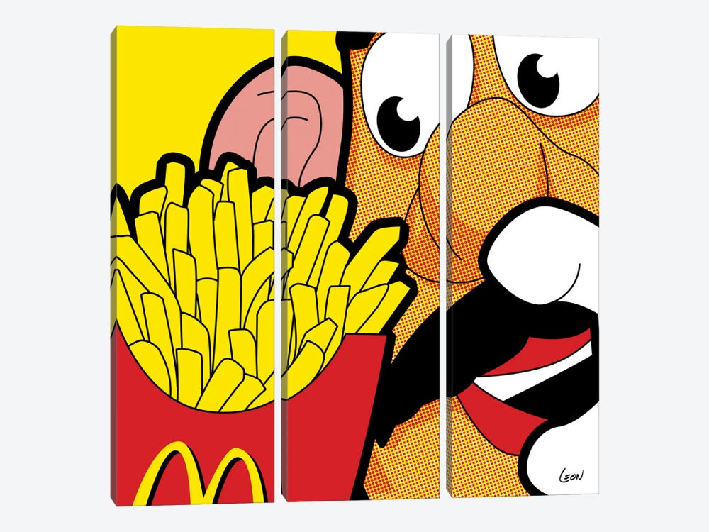 "Cannibalism by Gregoire ""Leon"" Guillemin 3-piece Canvas Art Print"