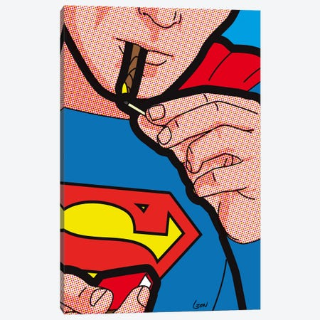 "Super Smoke 3-Piece Canvas #GGN200} by Grégoire ""Léon"" Guillemin Canvas Artwork"