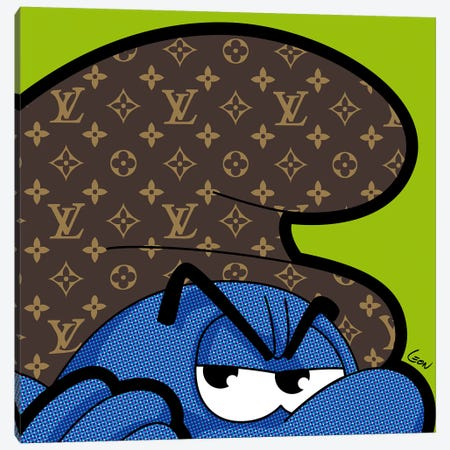 "Billboard Smurf Canvas Print #GGN202} by Grégoire ""Léon"" Guillemin Canvas Artwork"
