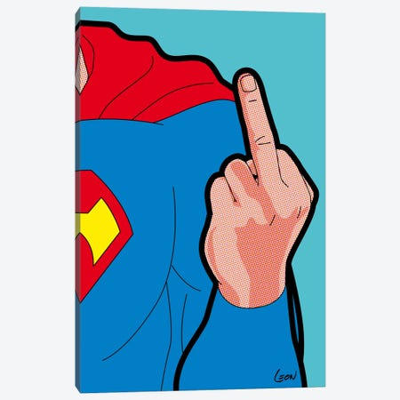 "Super-Finger Canvas Print #GGN22} by Gregoire ""Leon"" Guillemin Canvas Art"