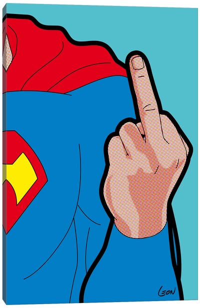 Super-Finger Canvas Art Print