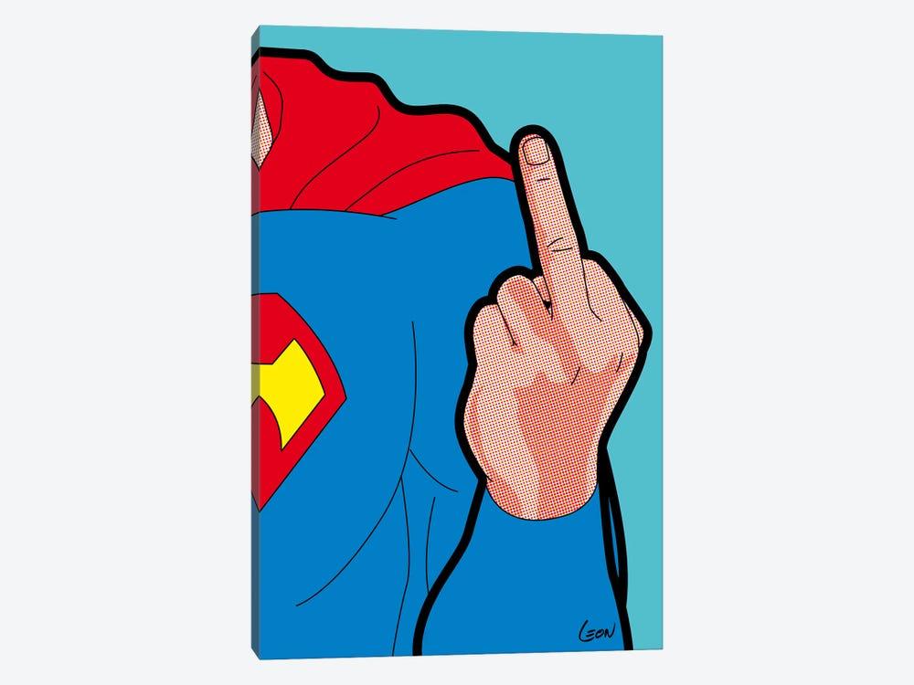 """Super-Finger by Grégoire """"Léon"""" Guillemin 1-piece Canvas Artwork"""