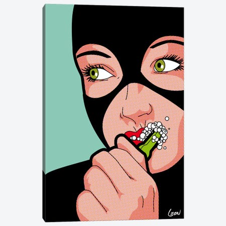 "Cat Brush Canvas Print #GGN25} by Grégoire ""Léon"" Guillemin Canvas Print"