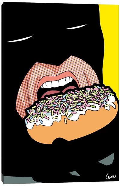 Bat-Donuts Canvas Art Print