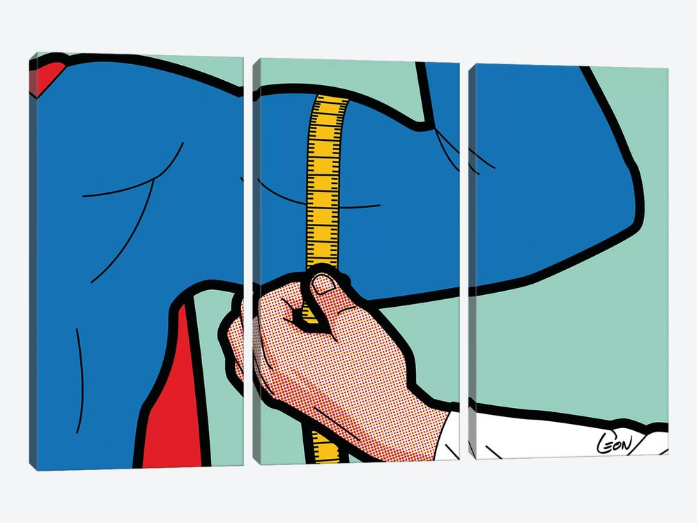 "Super-Evaluation by Gregoire ""Leon"" Guillemin 3-piece Canvas Art"