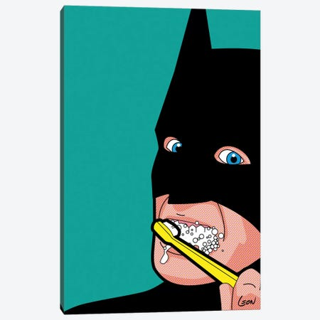 "Bat-Brush Canvas Print #GGN4} by Gregoire ""Leon"" Guillemin Canvas Wall Art"