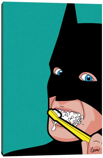 Bat-Brush Canvas Print #GGN4