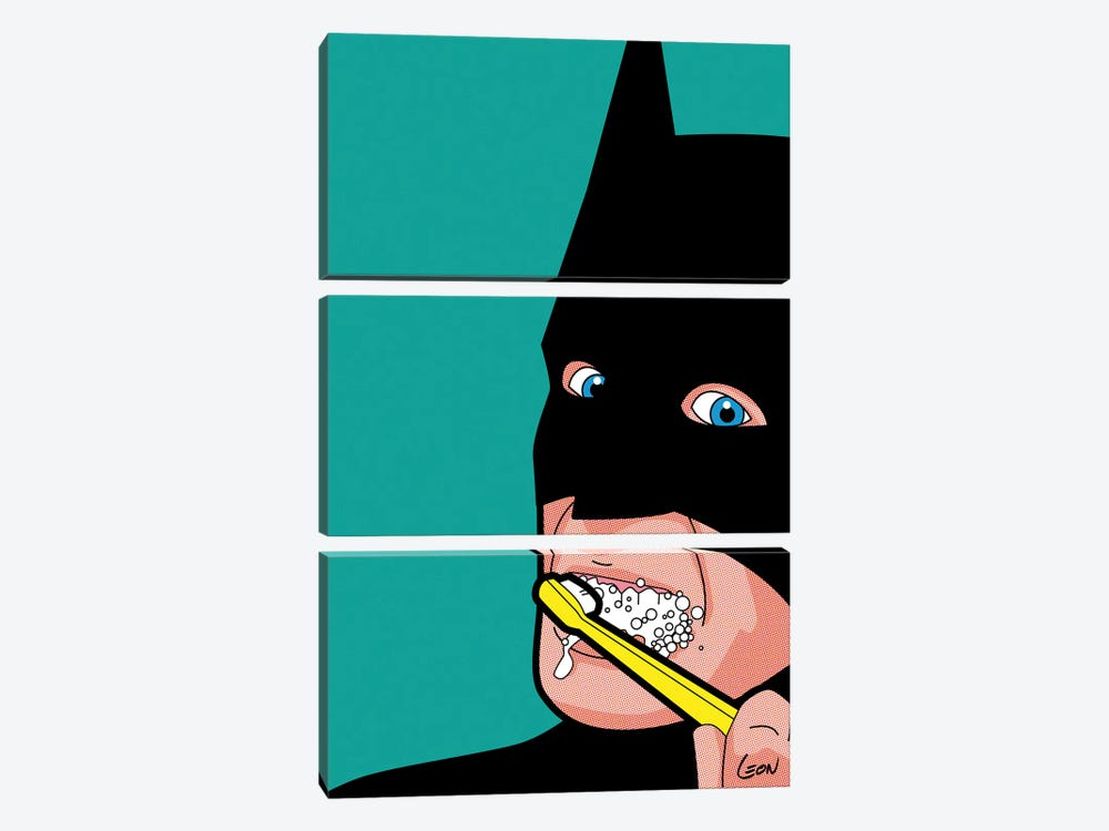 "Bat-Brush by Gregoire ""Leon"" Guillemin 3-piece Canvas Artwork"