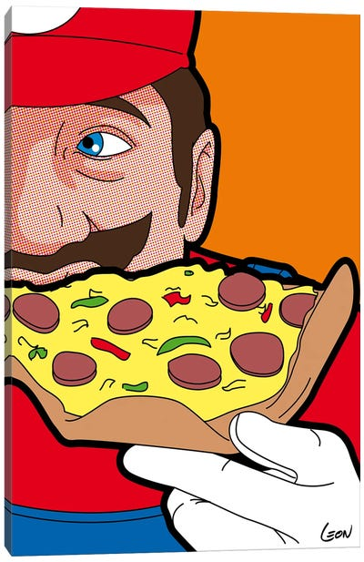 Mario-pizza Canvas Art Print