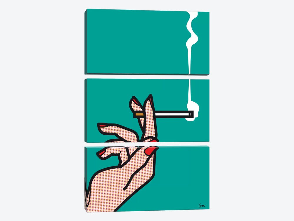 "Mad Men #1 by Gregoire ""Leon"" Guillemin 3-piece Canvas Artwork"
