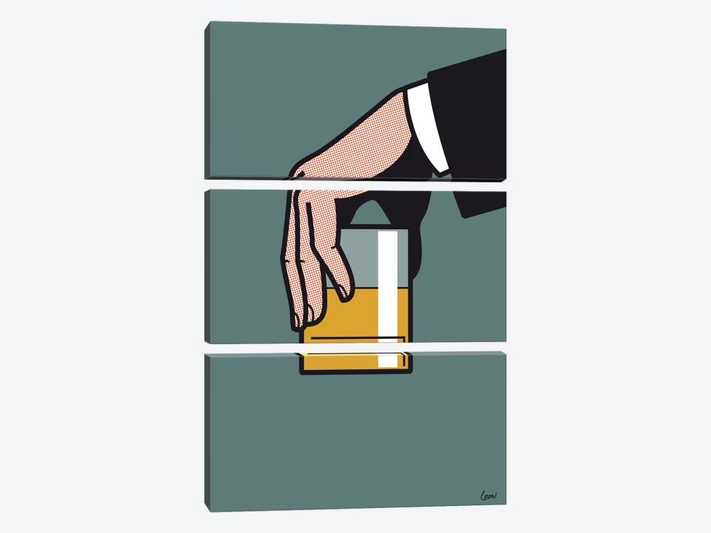 "Mad Men #2 by Gregoire ""Leon"" Guillemin 3-piece Art Print"
