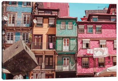 Messy Houses In Porto Canvas Art Print