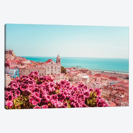 Miradouro De Lisbon Canvas Print #GGV14} by A Carousel Wandering Canvas Wall Art