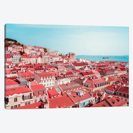 View On The Roofs Of Lisbon Canvas Print #GGV17} by A Carousel Wandering Canvas Art
