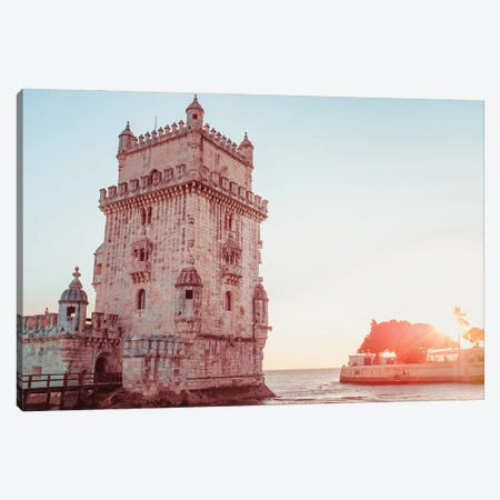 Sunset On Belém Canvas Print #GGV18} by A Carousel Wandering Canvas Print