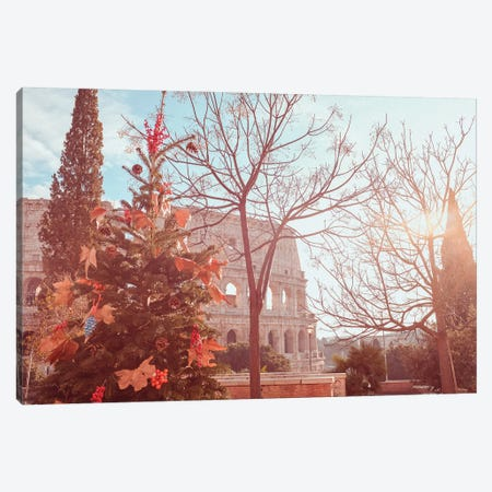 December In Rome Canvas Print #GGV20} by A Carousel Wandering Canvas Wall Art