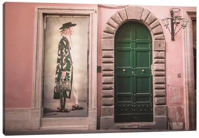 Green Fashion Canvas Art Print