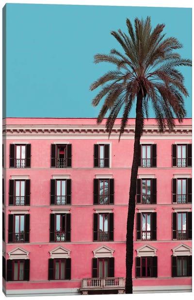 Pink Palm Canvas Art Print