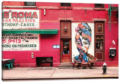 Audrey In Little Italy Canvas Art Print