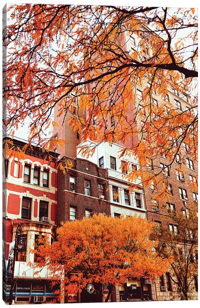 Fall Buildings Canvas Art Print