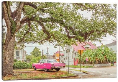 Old Pink Car Canvas Art Print