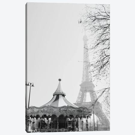 Eiffel Go Round Canvas Print #GGV50} by A Carousel Wandering Canvas Print