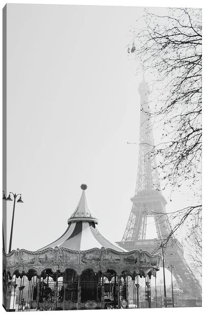 Eiffel Go Round Canvas Art Print