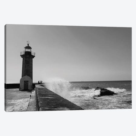 Lighthouse Waves Canvas Print #GGV53} by A Carousel Wandering Canvas Print