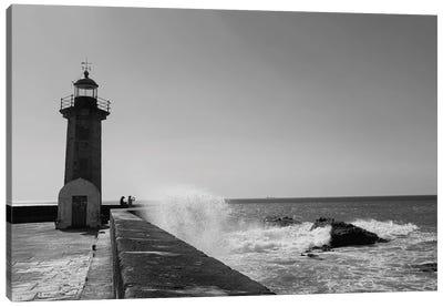 Lighthouse Waves Canvas Art Print