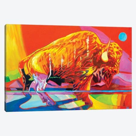 Electric Buffalo Canvas Print #GHE12} by Greg Heil Canvas Art