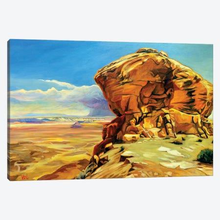 Moki Dugway Canvas Print #GHE26} by Greg Heil Canvas Artwork
