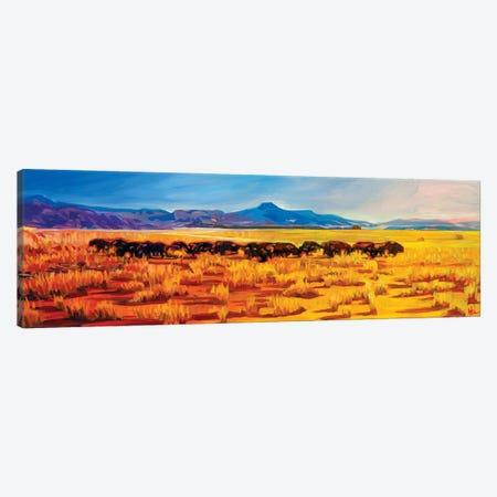 Where The Buffalo Roamed Canvas Print #GHE51} by Greg Heil Canvas Art