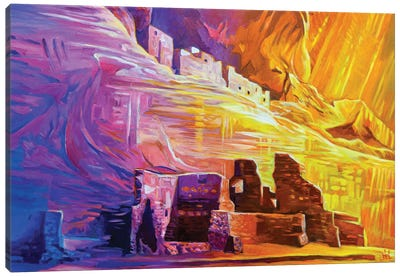 White House Ruins At Canyon de Chelly Canvas Art Print
