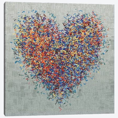 The Optimist Heart II Canvas Print #GHL12} by George Hall Canvas Print