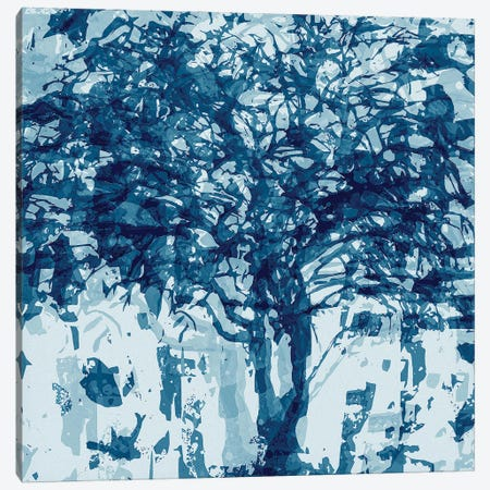 Blue Tree Canvas Print #GHL13} by George Hall Art Print