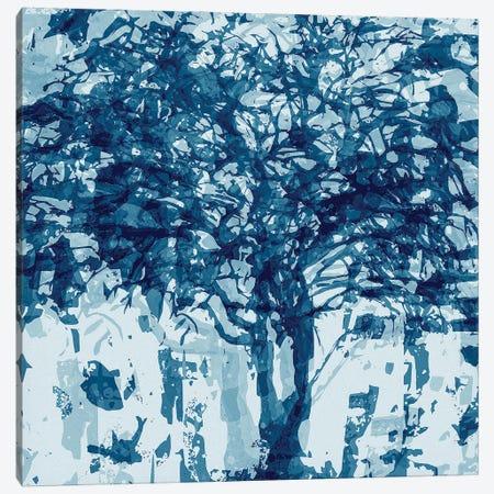 Blue Tree Canvas Print #GHL13} by George Hall Art Print