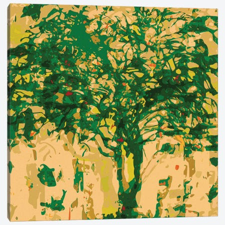 Forrest Green Tree Canvas Print #GHL14} by George Hall Canvas Wall Art