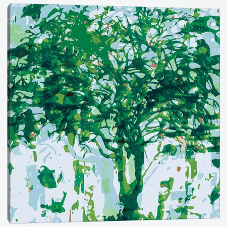 Green Blue Tree Canvas Print #GHL16} by George Hall Canvas Artwork
