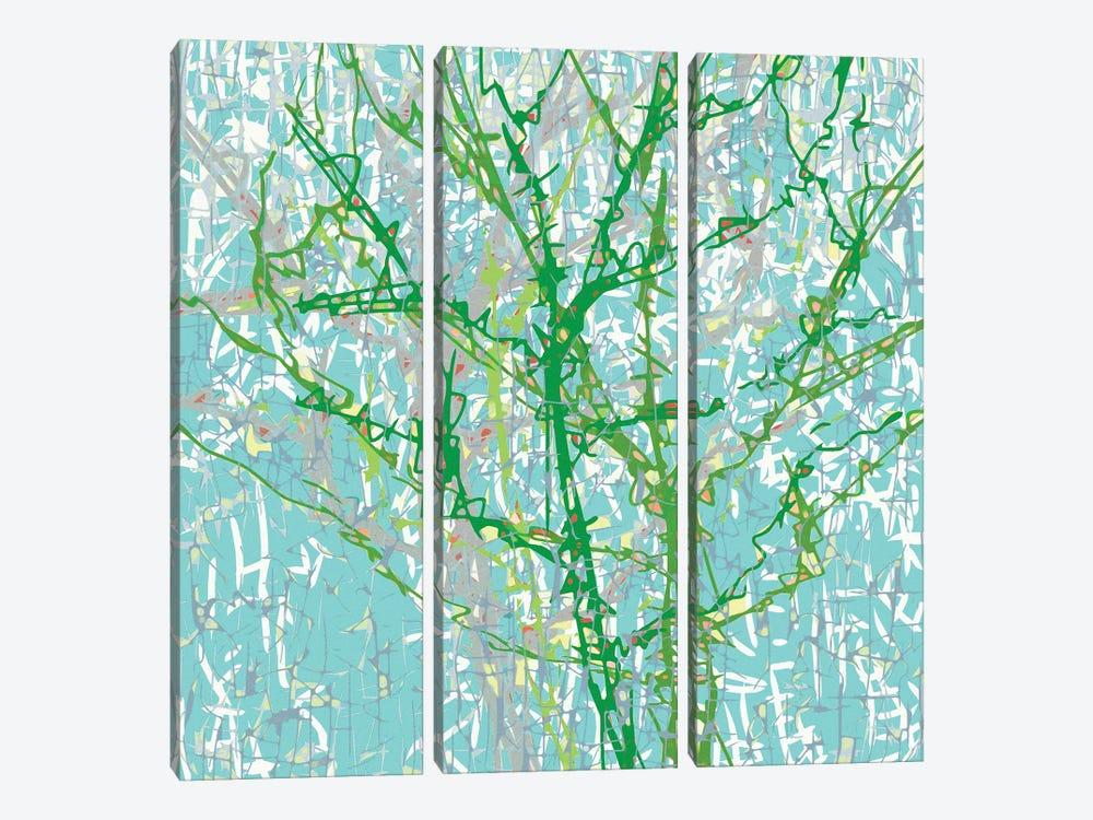 Bg Trees by George Hall 3-piece Canvas Wall Art